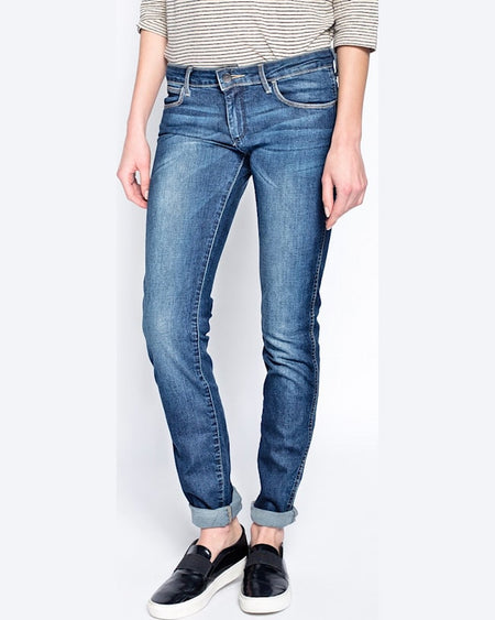 Jeanși Wrangler courtney scuffed bleumarin