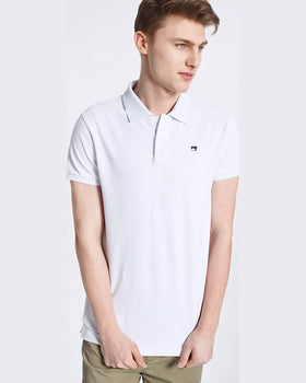 Tricou Scotch and Soda polo alb