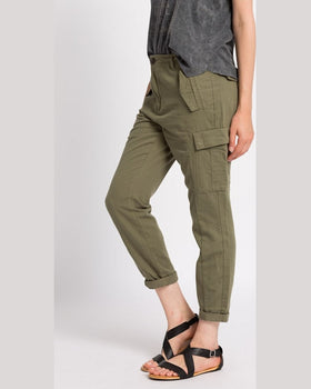 Pantaloni Review cropped worker verde