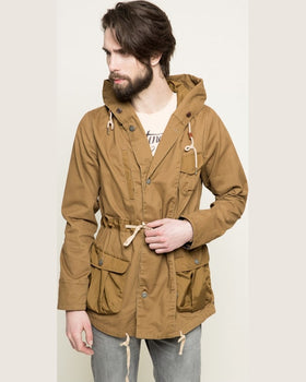 Parka Scotch and Soda hanorac maro auriu