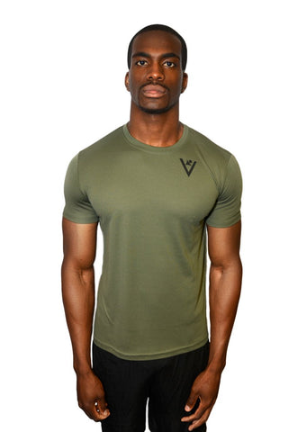 "Men's ""Faster, Better, Stronger"" Short Sleeve - Military Green"