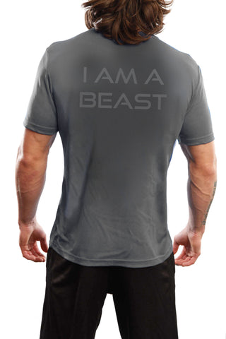 "Men's ""Beast"" Performance Crew - Heather Grey"