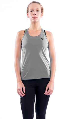 "Women's ""Faster, Better, Stronger"" Tank - Steel"