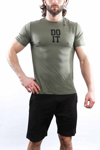 "Men's ""DO IT"" Short Sleeve - Military Green"