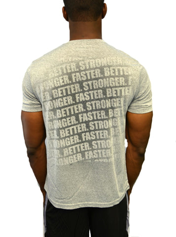 "Men's ""Faster, Better, Stronger"" Short Sleeve - Heather Grey"