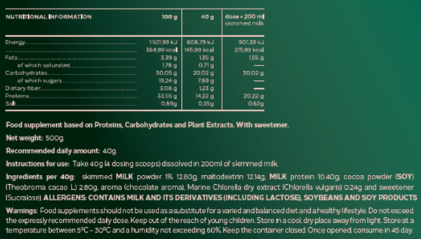 Marine Chlorella Complete Meal Replacer