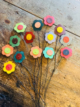 Reclaimed Tin Flowers Set of 4