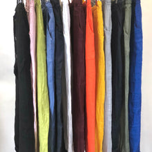 Linen Tie Waist Tapered Pant (Multiple Colors)