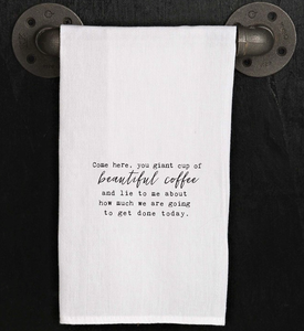 Flour Sack Dish Towel - Beautiful Coffee