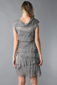 Short Silk Layered Dress (Multiple Colors)