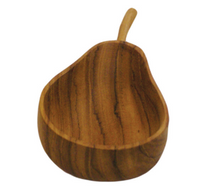 Teak Pear Pinch Bowl