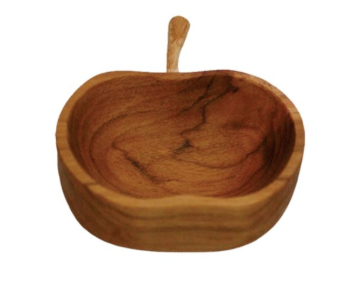 Teak Apple Pinch Bowl
