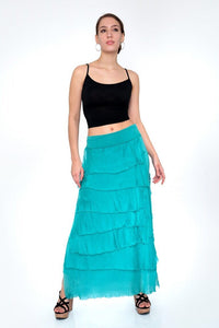 Silk Layered Skirt