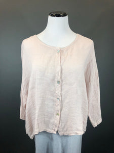 Linen Cropped Button Down Top (Multiple Colors)