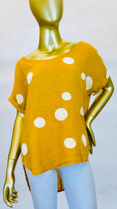 Linen Dot Tee (Multiple Colors)