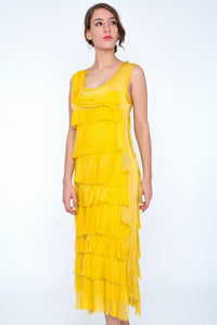 Long Silk Layered Dress (Multiple Colors)