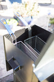 Louisiana fish fryer double basket view Black Powder coat finish