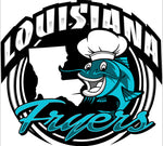 Louisiana Cajun fish fryer logo