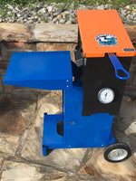 Louisiana fish fryer top view Orange and Blue Powder coat finish Florida Gators edition