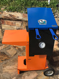 Louisiana cajun fish fryer top view Orange and Blue Powder coat finish Florida Gators edition