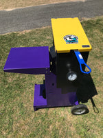Louisiana Cajun fish fryer top view purple and gold Powder coat finish Florida Gators edition