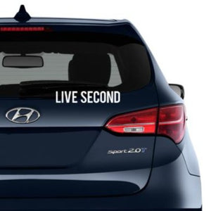 Live Second Decal