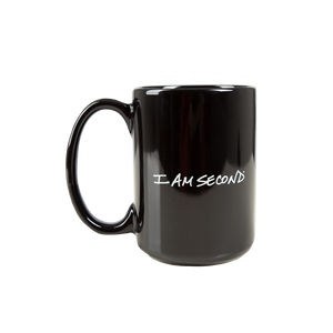 I Am Second Black Mug