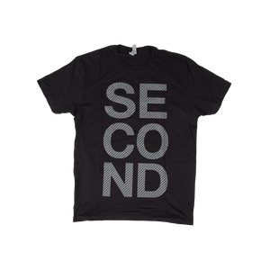 Stacked SECOND Black Tee