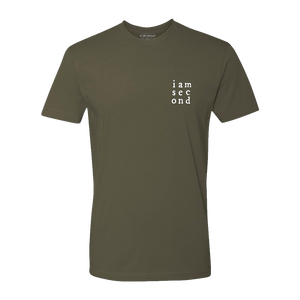 Unisex Second Grid Army Green Tee