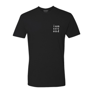 Unisex Second Grid Black Tee