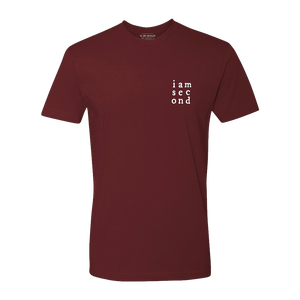 Unisex Second Grid Maroon Tee