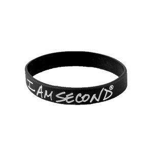 I Am Second Black Wristband