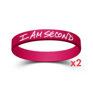 I Am Second Pink Wristband