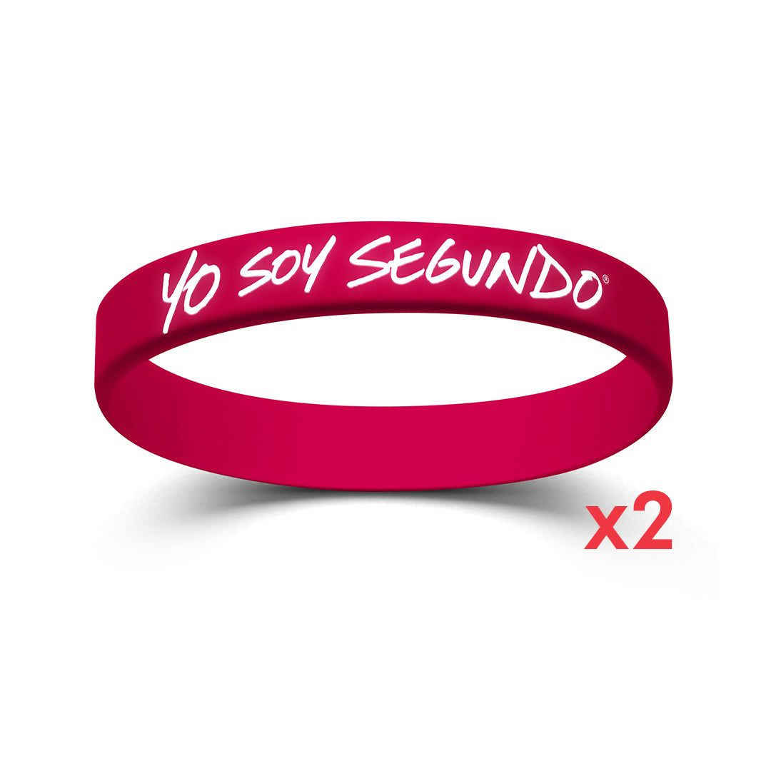 I Am Second Yo Soy Segundo Pink Wristband