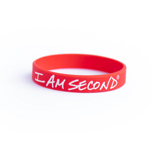 I Am Second Red Wristband