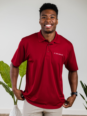 Men's Red Performance Polo