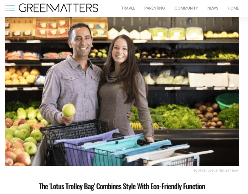 GREENMATTERS — The Lotus Trolley Bag Combines Style with Eco-friendly Function