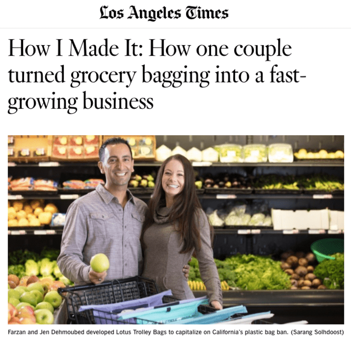 L.A. TIMES — How I Made It: How one couple turned grocery bagging into a fast-growing business