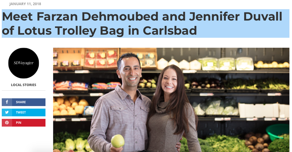 SD VOYAGER — Meet Farzan Dehmoubed and Jennifer Duvall of Lotus Trolley Bag in Carlsbad