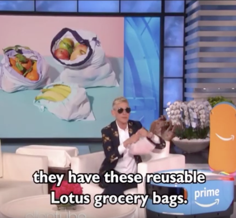Lotus Produce Bags on Ellen!