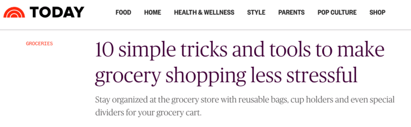 TODAY.COM — 10 Simple Ways to Make Grocery Shopping Less Stressful