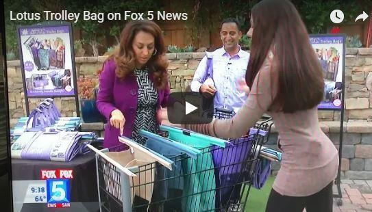 Lotus Trolley Bags featured in Fox 5