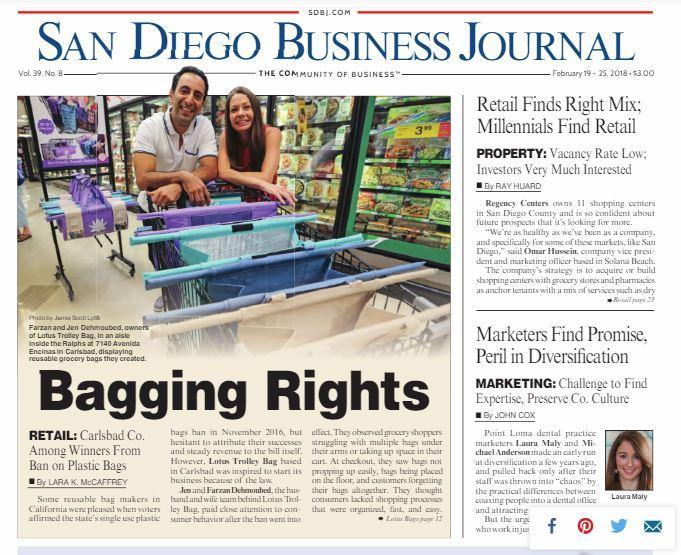 SAN DIEGO BUSINESS JOURNAL — Bagging Rights