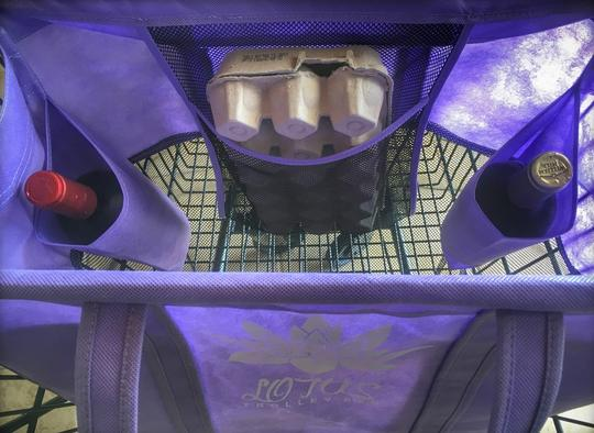 Lotus Trolley Bag egg and wine pocket