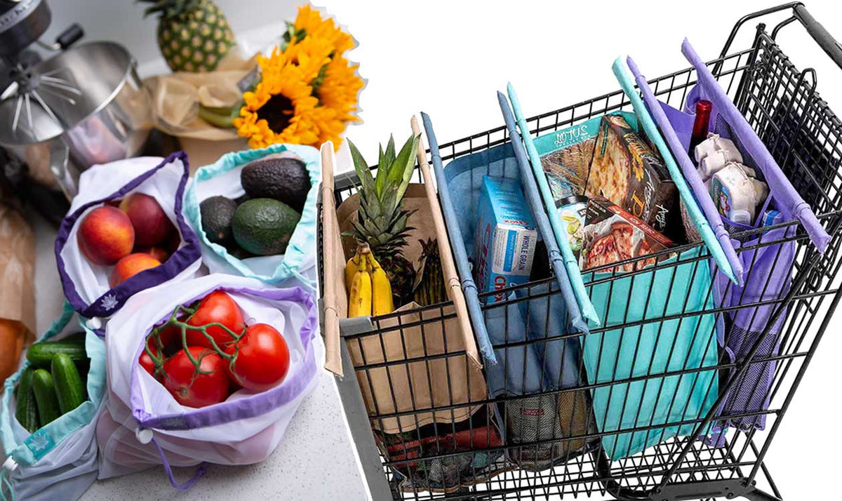 NEW: Sustainable Bag Bundle! Lotus Trolley Bag and 9 Lotus Produce Bags