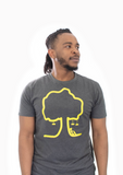Money Trees Grey Yellow T-Shirt