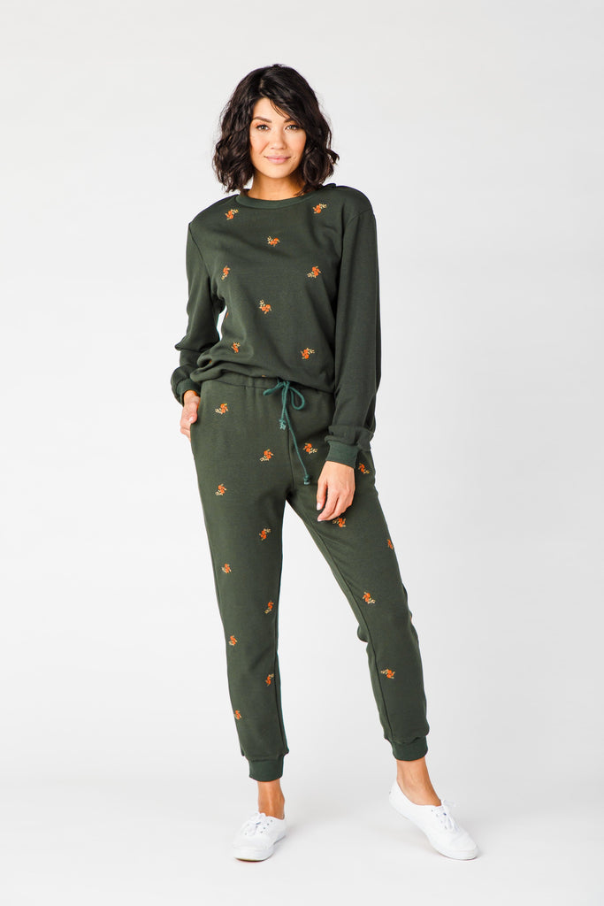 The Pines Lounge Set WOMEN'S LOUNGEWEAR Polagram Hunter Green L
