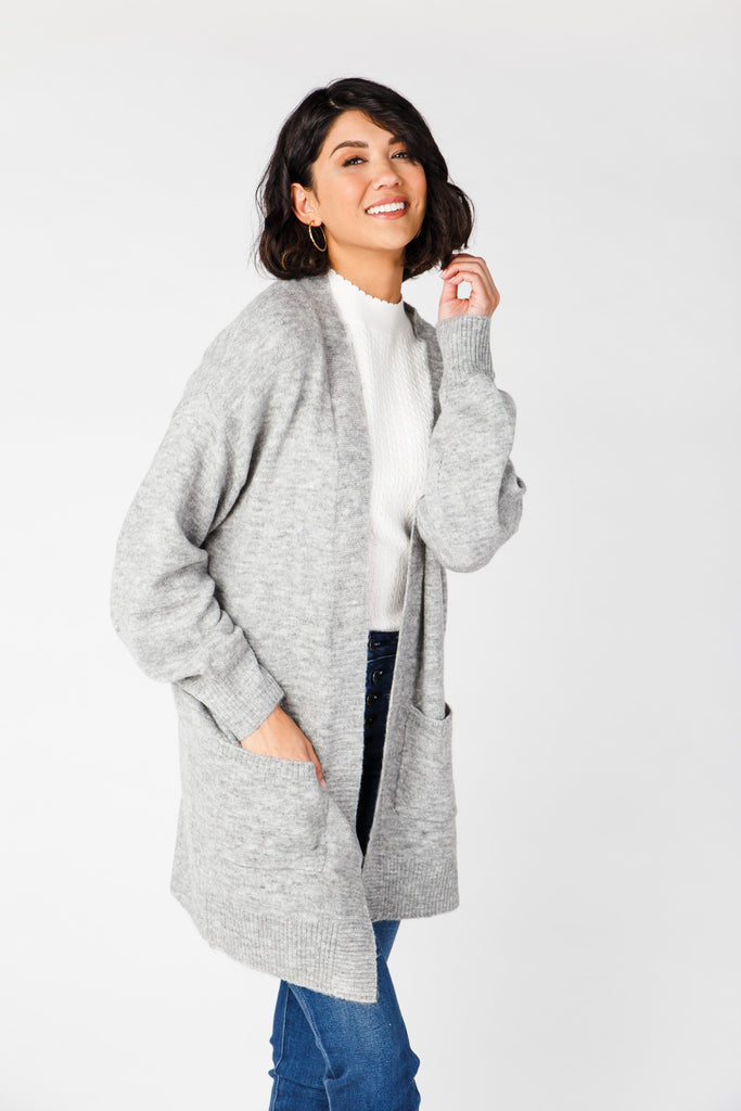 Tahoe Cardigan Sweater WOMEN'S SWEATERS Be Cool Heather Grey M/L