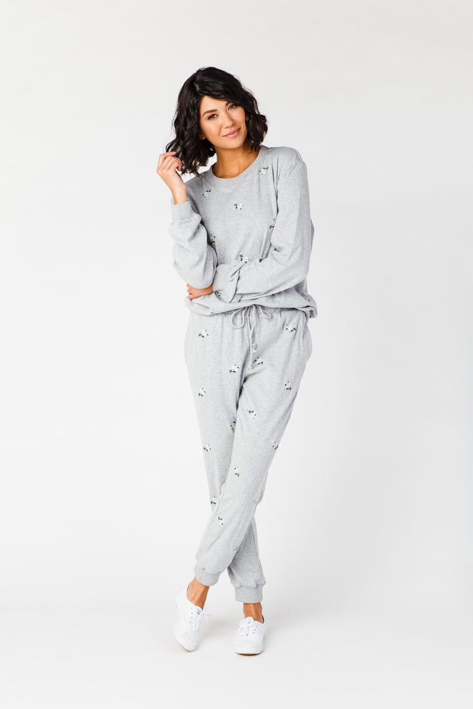 The Pines Lounge Set WOMEN'S LOUNGEWEAR Polagram Heather Grey L