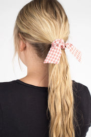 Peyton Gingham Hair Tie Variable Called to Surf ONE SIZE PINK